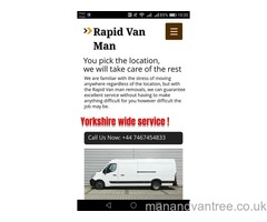 Rapid van man removals Bradford we take care of the rest need a helping hand anywhere