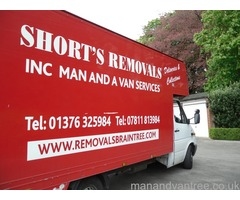 Shorts Removals and Storage Based in Braintree Essex and covers all of uk fully insured