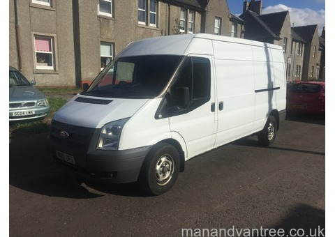 Man and van for hire cheapest in Airdrie clean white van