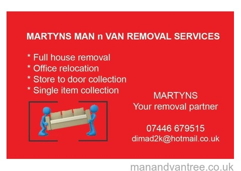 MAN WITH A VERY CLEAN VAN CHEAP AND RELIABLE
