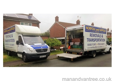 Norfolk & Suffolk man & van local and national removals & transport at realistic costs.