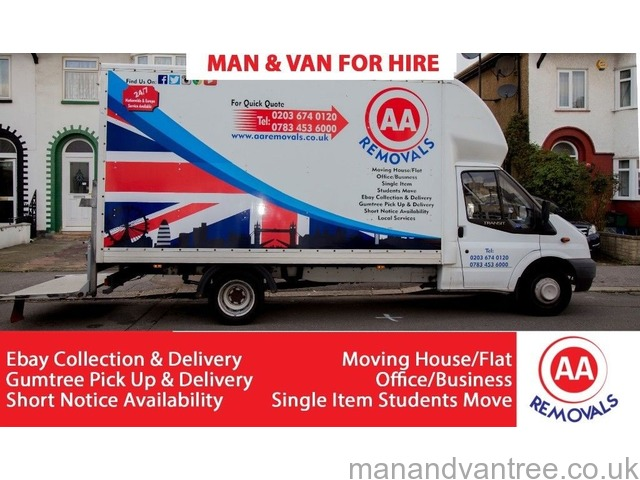 38277e5843 AA REMOVALS MAN AND VAN HIRE Moving House Flat Office Business Students