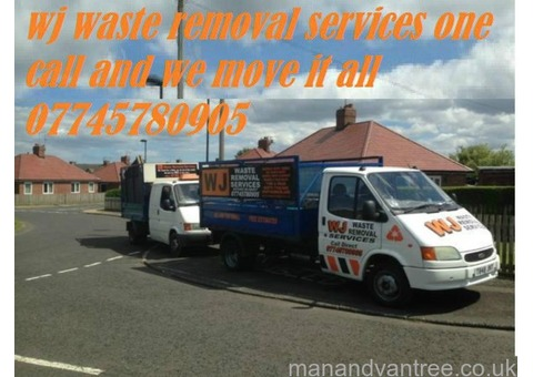 W.J WASTE & RUBBISH REMOVAL house clearance, trade waste, garden clearance, rubble