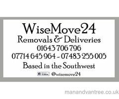 WiseMove24 Removals & Deliveries, Based in the South West, Fully Insured, Local & National