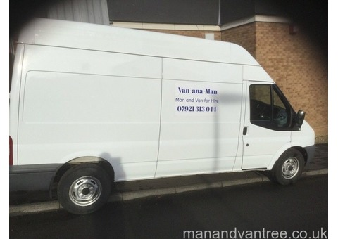 Professional man and van service. Fully insured, SEPA registered