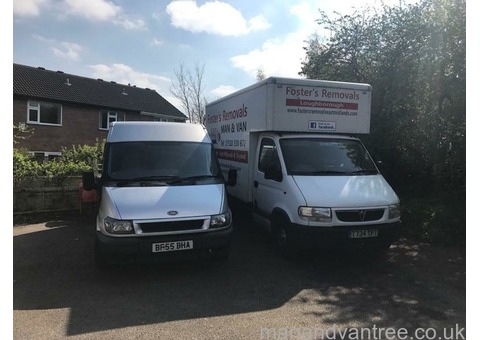 Foster's Removals, Man and Van, Loughborough, East Midlands and beyond