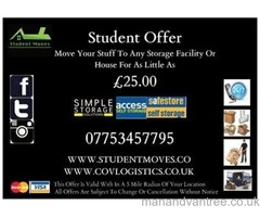 Student Moves, Van Hire, Man and Van Services Coventry
