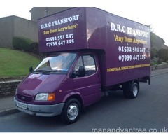 Man and van from single items to full house removals based in Fife covering the hole of the uk