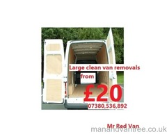 Man with a van Cannock low cost removals service