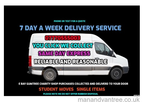 RELIABLE COLLECTION AND DELIVERY SERVICE