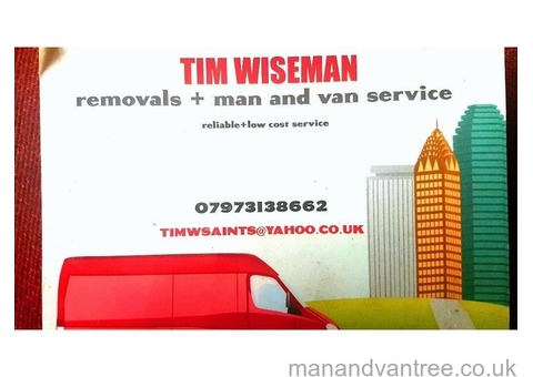 Man and van small moves, furniture delivery collection service etc