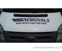 Professional removal company/man with van service large luton van with tailift