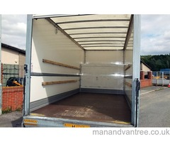 6am-11pm LUTON VAN TAIL LIFT HIRE man and van furniture house office european overseas move from uk