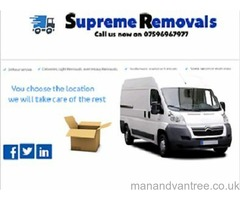 Cheap and the highest standard man and van hire and removal services