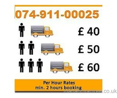 MAN AND VAN HIRE 24/7 REMOVAL SERVICES MOVERS  7.5 TONNE TRUCK MOVING VAN CHEAP WASTE