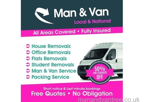Cheap Man & Van £20 p/h Hire Removal Service