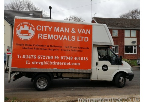 Cheap Man and Van Removals in Coventry - Prices Starting at Just £20!!