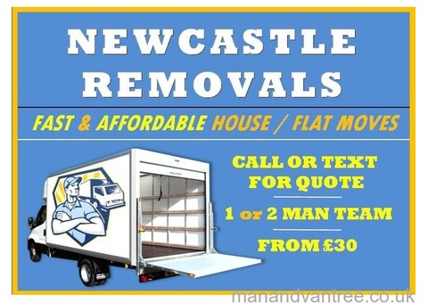 NEWCASTLE HOME REMOVALS | HOUSE REMOVAL SERVICE, MAN & VAN DELIVERY, TRANSPORT OF ITEMS OR LOADS