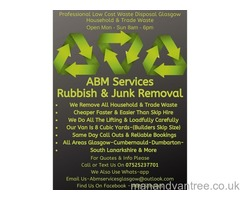 ABM Rubbish & Junk Removals Low Cost-Professional-Fast-Skip Hire Alternative House Clearance