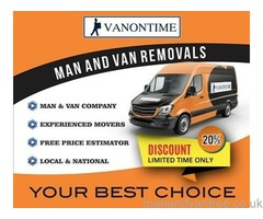 Cheap local man and van hire experienced movers from 9 years +