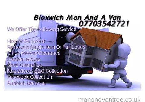Bloxwich man and van removals house clearance office clearance