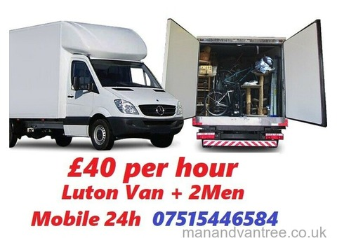 House Removals, Man and Van, Cheapest Removals, Luton van and man £40 per hour