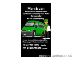 Man and van services wirral Birkenhead Liverpool northwest  and all over the uk