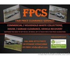 FAIR PRICE CLEARANCE SERVICES RUBBLE, GARDEN WASTE, WOOD, GENERAL WASTE, SCRAP METAL AND MORE