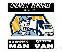 Man & Van, From £20/h, Last minute removals, Single item deliveries