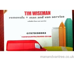 Man and van/small moves specialist, furniture collections etc