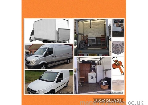 Man and van (2 men) House Removals Long Distance Removals FREE SCRAP UPLIFTS Rubbish & Garden