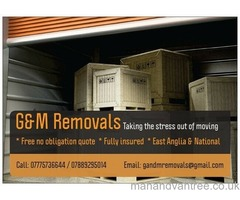 Removal Company - East Anglia & National Free no obligation quote, fully insured