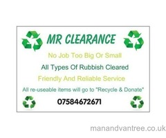MR CLEARANCE Bristol rubbish clearance / rubbish services / house clearances / garden services