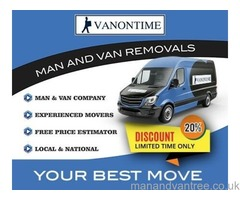 FROM £20 Variable Man with Van Hire Free and clear quotes Man and Van, House Removals