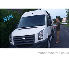 Man with van hire haulage loads courier removal VW Crafter 109 MWB Bristol