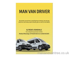 Man van driver located in Basildon, deliveries to all areas the UK