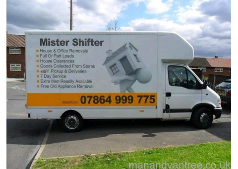 House removals clearance Cheap man and tail lift van hire Ashton-under-Lyne