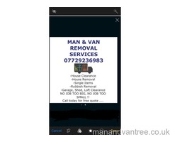 MAN AND VAN Walton Merseyside