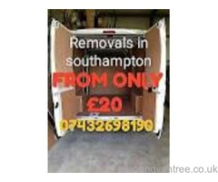 Low cost man and van removals from only £20
