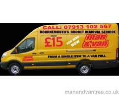 Man and Van Bournemouth Cheap removals and Van and Driver Hire