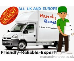 MAN AND LUTON VAN REMOVALS SAME DAY COURIER DELIVERY SERVICE PALLET LIFTER PUMP TRUCK