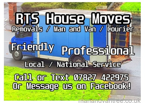 RTS House Moves - Removals/Man&Van/Packing Stoke-on-Trent