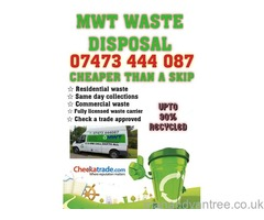 Rubbish removal / waste / man and van / house clearance / scrap metal