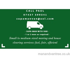 Supa Man (or 2 men) with van: removals, house clearances in Greater Glasgow area