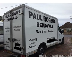 Paul Rogers Removals and Man and Van Service, based in Bournemouth but distance no object