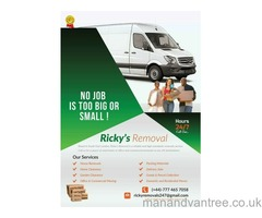 Man and van pick up drop off removals, deliver courier service