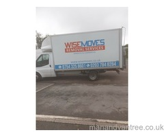 WISE MOVE MAN & VAN SERVICES!! Professional, Reliable & Fast Removal Services