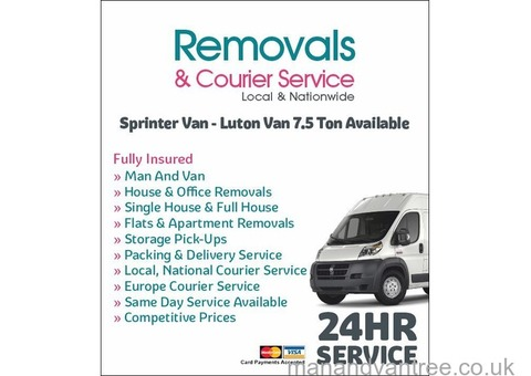 Removals & Courier Services Local & National 24/7 Services
