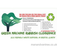 Eco friendly rubbish clearance