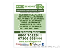 Rubbish removal  waste removal garden clearance